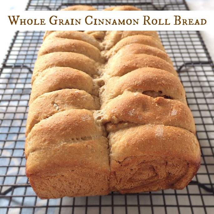 Whole Grain Cinnamon Roll Bread pin