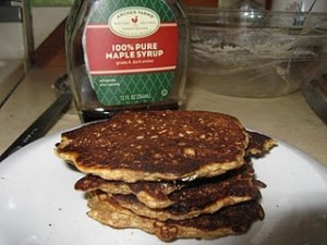 Oatmeal Pancakes on Snow Day 2011