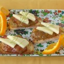 Crostini Toasts with Orange Rhubarb Sauce | Teaspoonofspice.com