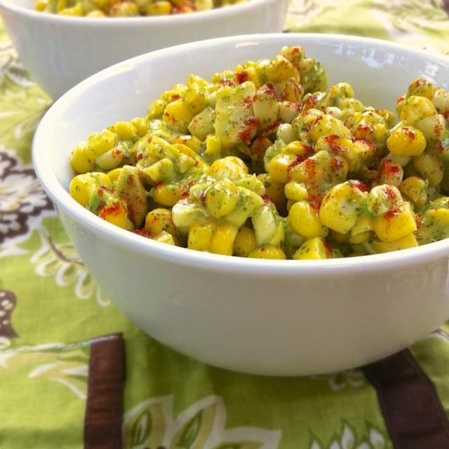 Corn Avocado Salad with Honey Lime Vinaigrette | TeaspoonofSpice.com