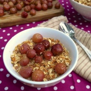 Honey Roasted Grapes with Peanut Butter Granola – The Recipe ReDux
