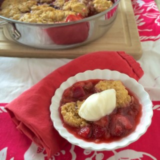 Strawberry Rhubarb Slump | Teaspoonofspice.com