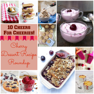 10 Cheers for Cherries! Cherry Desserts Recipe Roundup – guest post @HealthyApeture