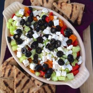 Layered Veggie Hummus Dip:<BR />The Recipe ReDux