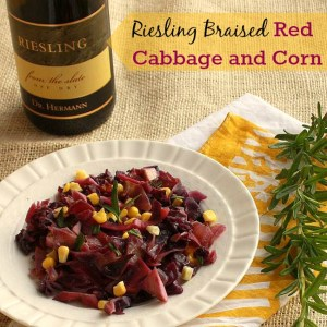Riesling Braised Red Cabbage and Corn | The Recipe ReDux