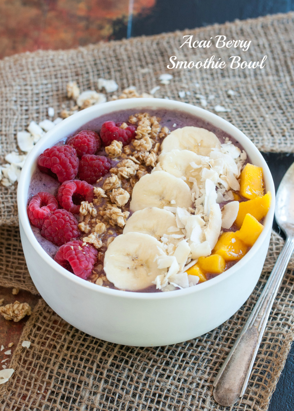 17 Smoothie Bowl recipes from food loving dietitians including this Acai Smoothie Bowl via @nutritiouseats