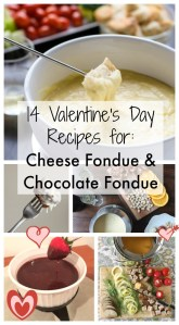14 Cheese Fondue + Chocolate Fondue Recipes for Valentines Day