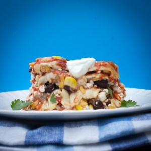 Slow Cooker Mexican Lasagna with Chicken