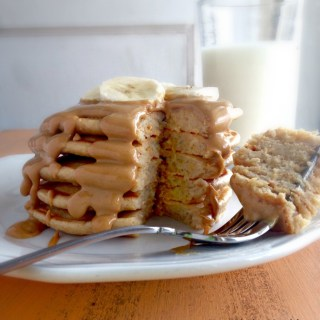 Peanut Butter Protein Pancakes from a Peanut Butter Lovers' Recipe Round Up
