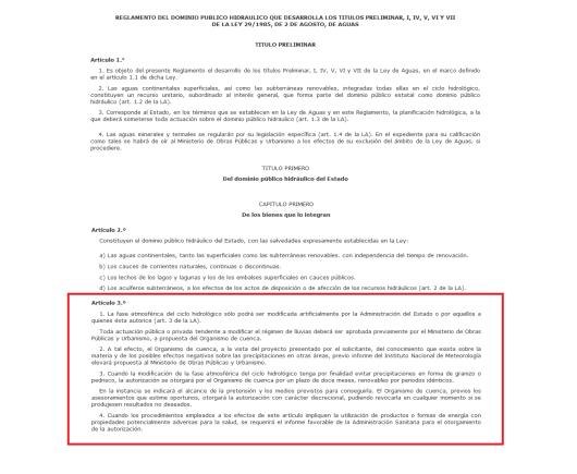 7b21d boe2 - REAL DECRETO ESPAÑOL PERMITE LA MODIFICACION CLIMATICAARTIFICIALMENTE