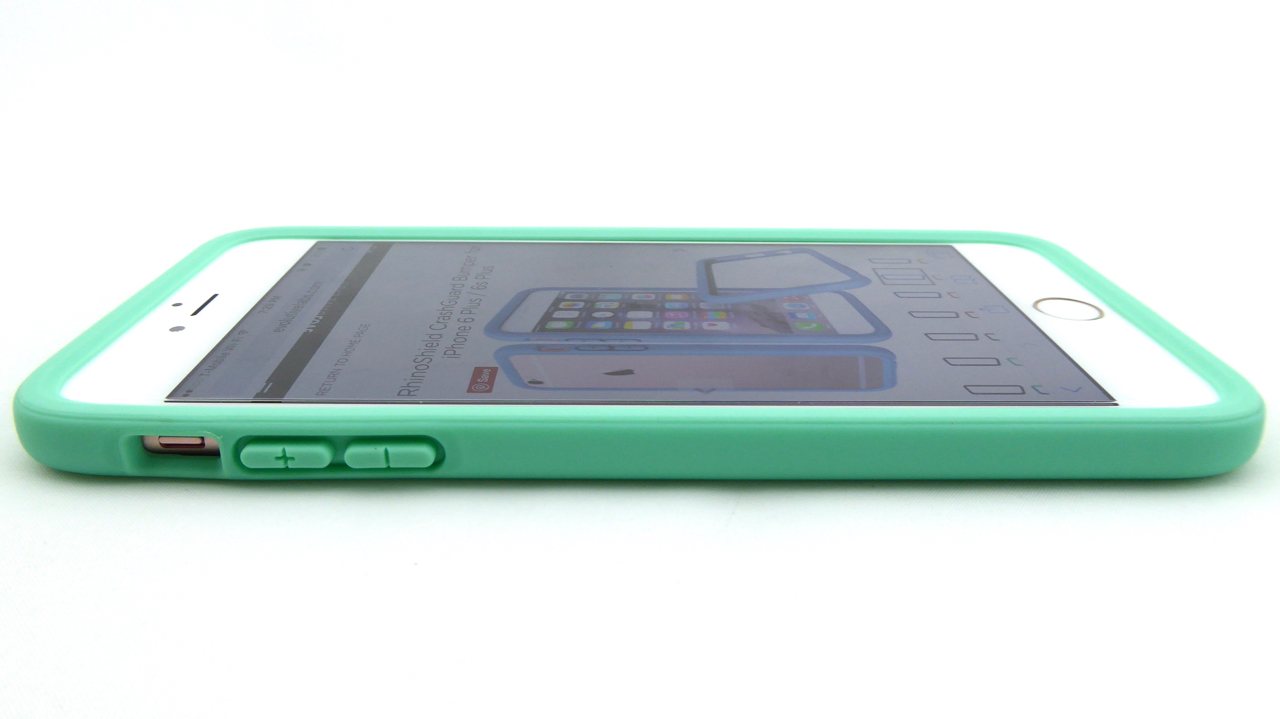 RhinoShield CrashGuard for iPhone 6s Plus in Mint Green- Front Side View
