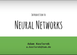 Introduction to Neural Networks & Deep Learning