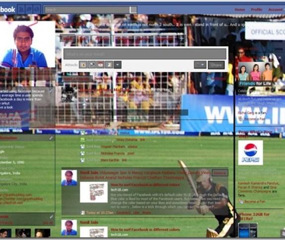facebookIPLtheme thumb1 [How to] Free IPL Facebook Theme