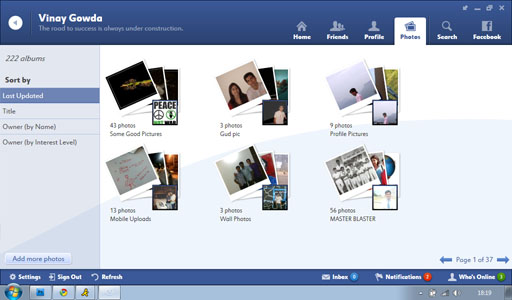 Fishbowl Friends Photos2 Fishbowl : Facebook Desktop Application by Microsoft