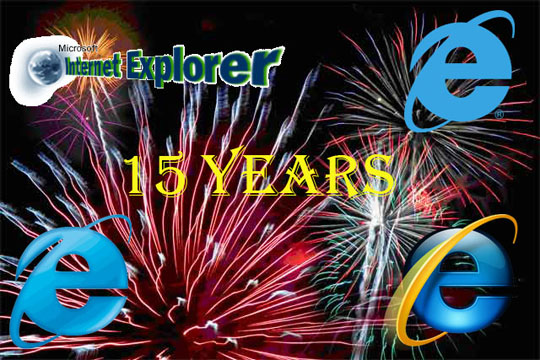 Internet Explorer 15 birthday1 Microsoft's Internet Explorer Turns 15 Today!