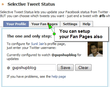 Selective Tweets Facebook Application1 10 ways to schedule Facebook status updates