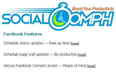 SocialOomph1 10 ways to schedule Facebook status updates