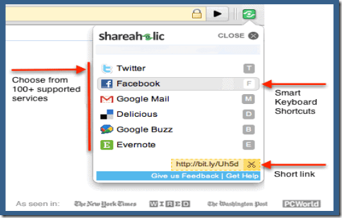 shareholic1 5 Google Chrome Extensions to Increase Productivity