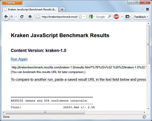 Firefox 4 beta 6 kraken javascript benchmark image1 Opera 10.70 Beta Tops Kraken JavaScript Benchmark!