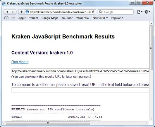 Safari 5 kraken javascript benchmark image1 Opera 10.70 Beta Tops Kraken JavaScript Benchmark!