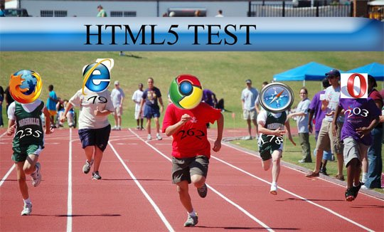 browsers race html5 test11 Chrome 7 beats other browsers in HTML5 Test!