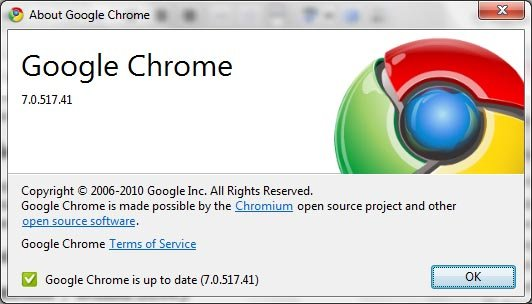 google chrome 7 stable version image1 Google Chrome 9 Build Starts From November