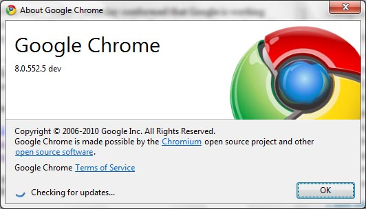 google chrome 8 dev version2 Google Chrome 9 Build Starts From November