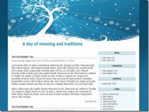 6 A Day Of Meaning And Traditions WordPress Theme thumb 40+ Best Free Christmas WordPress Themes [Updated]