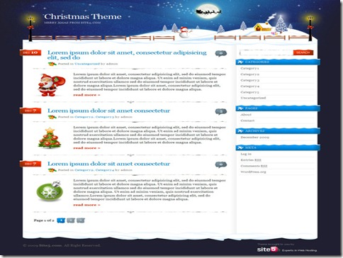 9 Free Christmas and New Years Eve WordPress Theme thumb 40+ Best Free Christmas WordPress Themes [Updated]