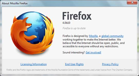 firefox 4 beta 10 image Mozilla Plans For Firefox 4 Beta 12, Releases Beta 10!