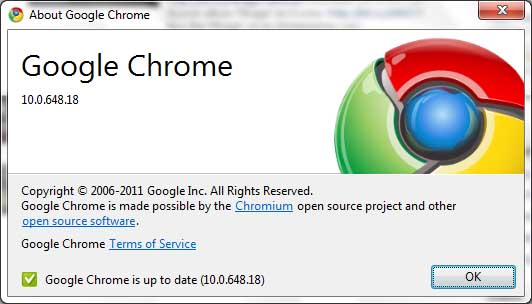 google chrome update information image IE9 To Get Automatic Update Feature Like Chrome & Firefox!