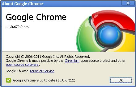 google chrome version 11
