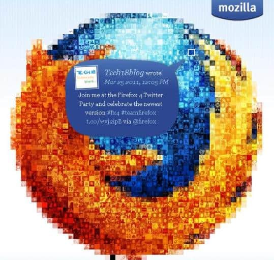 Firefox 4 Twitter Party image Taste the next version   Firefox 4.2 Alpha is here!