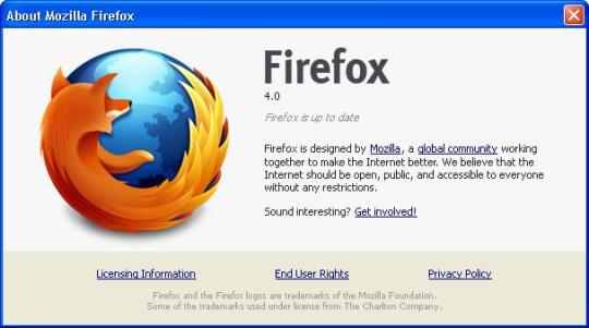 fierfox 4 rc1 image Taste the next version   Firefox 4.2 Alpha is here!
