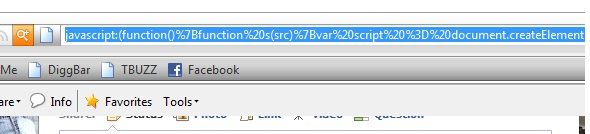 facebook youtube spam address bar