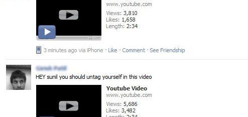 facebook youtube spam