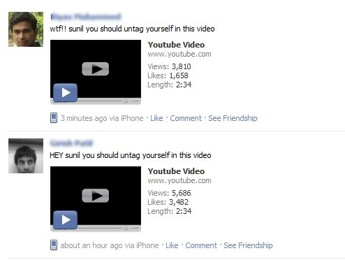 facebook youtube spam main1 Alert : Facebook YouTube Spam