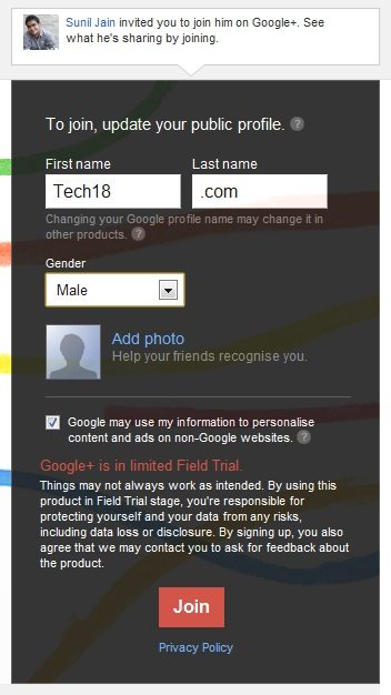 Step 4 google+ invitaion How To : Invite Others To Google+ Without Invite Button