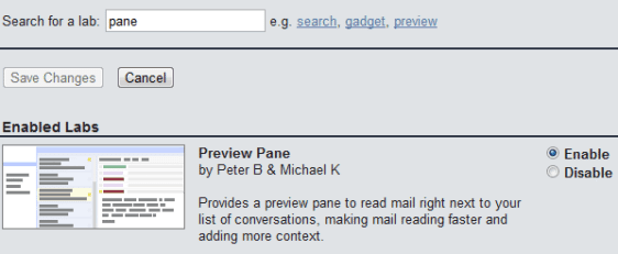Gmail Settings Preview Pane How To : Enable Gmail Preview Pane