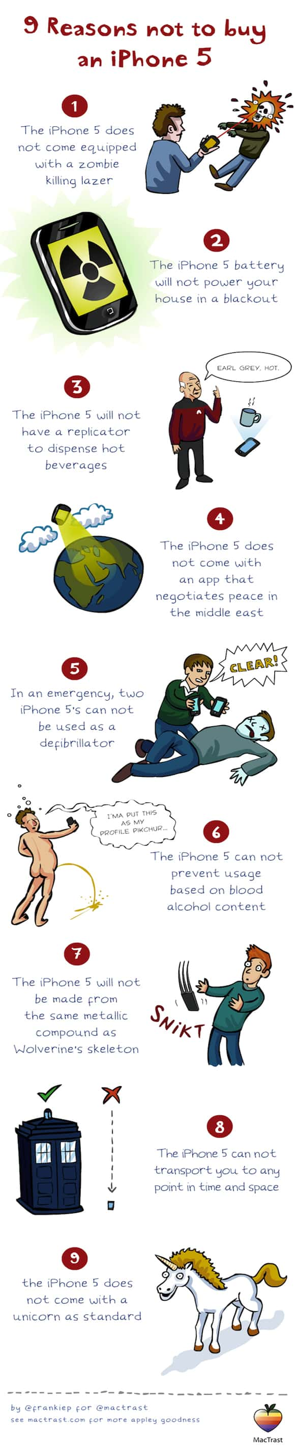 9 reasons not to buy iphone 5+ Incredible iPhone 5 Infographics
