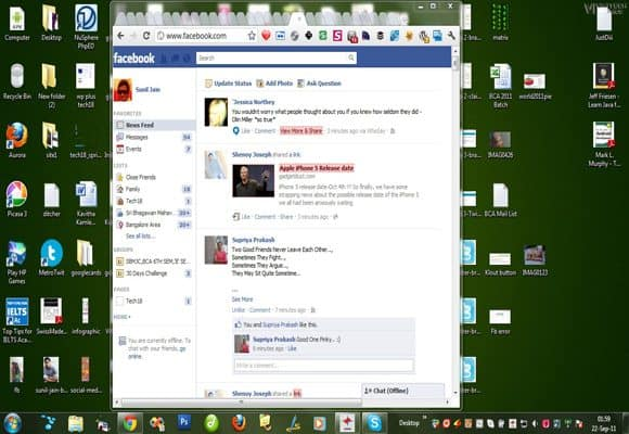 Facebook Old Interface styl1 How to Tackle Facebooks New Interface
