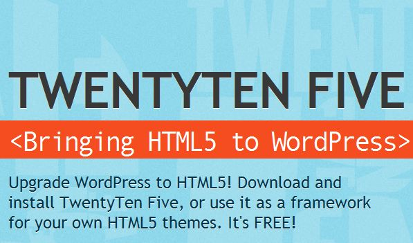 2 twentytenfive html5 wordpress theme 40+ Best Free HTML5 WordPress Themes & Frameworks