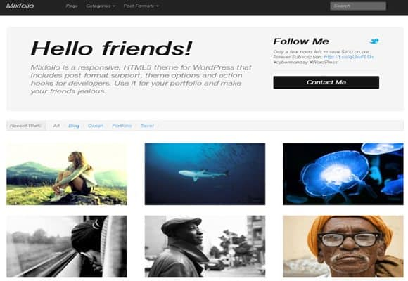 4 html5 wordpress theme 40+ Best Free HTML5 WordPress Themes & Frameworks