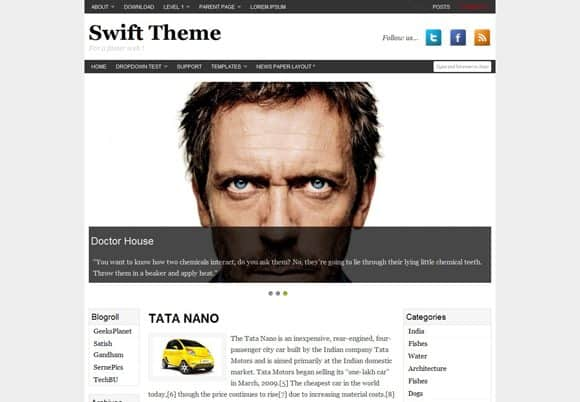 8 html5 wordpress theme 40+ Best Free HTML5 WordPress Themes & Frameworks