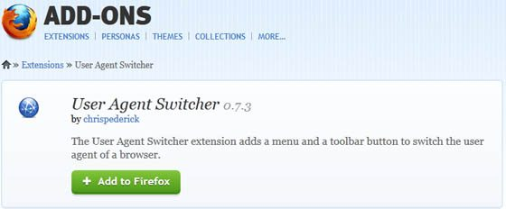 firefox user agent switcher addon image How to Remove Facebook Timeline in Chrome/Firefox