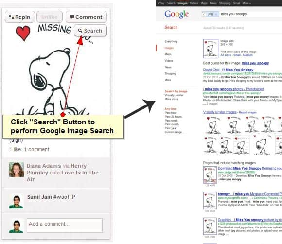 Pin Search Chrome Extension How To: Perform Google Image Search on any Pinterest Image