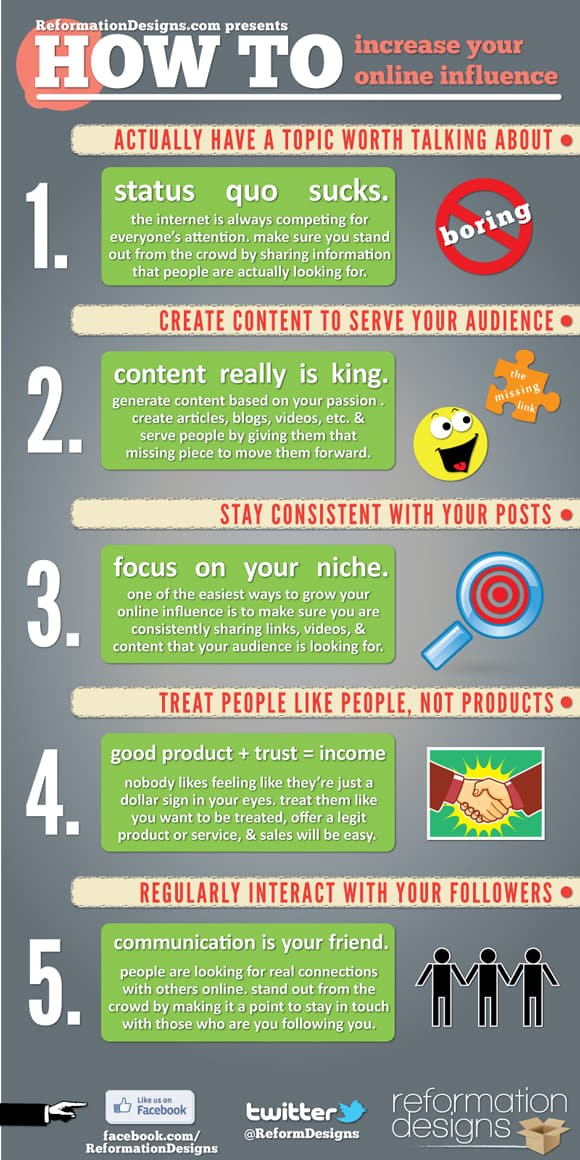 How To Increase Online Influence How To: Increase Your Online Influence (Infographic + Video)