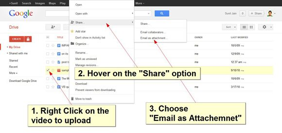 step3 upload youtube videos google drive How To: Upload Youtube Videos Using Google Drive