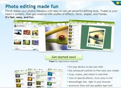 Picnik lets you create and edit images