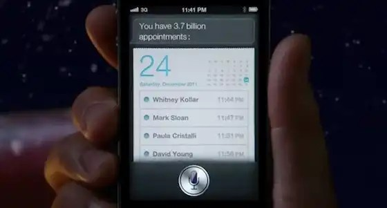 iphone 4s ad siri santa appointments